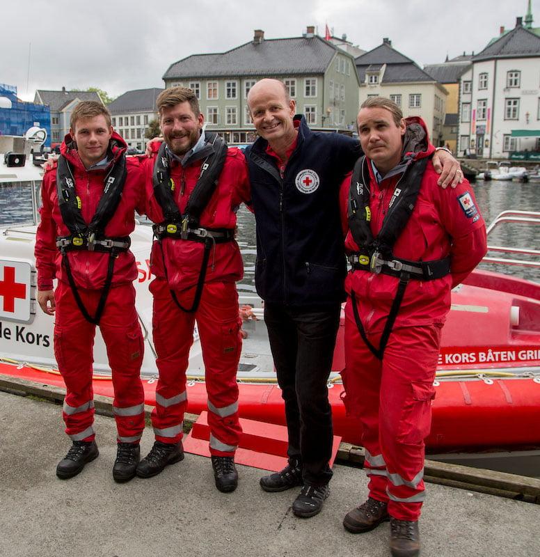 Sven Mollekleiv - Dåp av Grimstad Røde Kors Hjelpekorps sin nye redningsbåt.